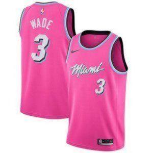 Miami Heat #3  Dwyane Wade Pink Jersey